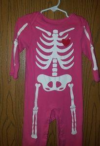 """12/18 month Old Navy """"skeleton"""" onesie"""